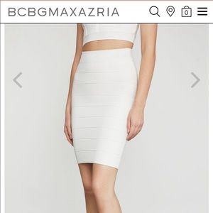 BCBG Bandage Skirt in White